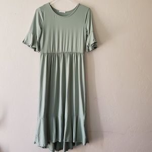 Reborn J//Boutique Midi Dress Poly spandex,